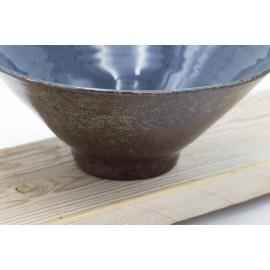 Bol Noodle bleu Marinou (grès)